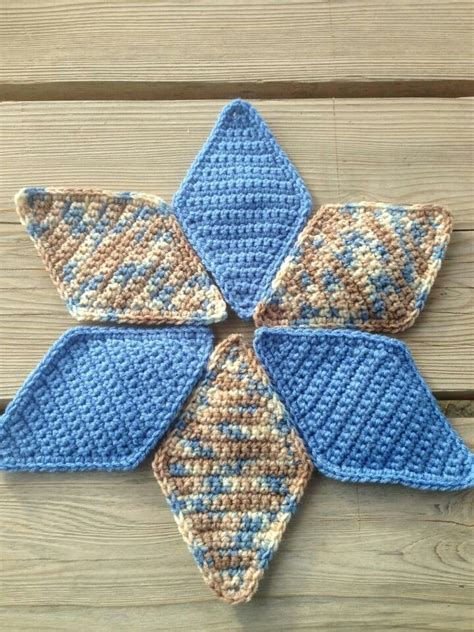 Crochet Quilt Pattern by 17 Best Images About Crochet Tumbling Blocks Quilt On