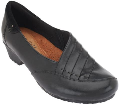 logo shoes on qvc cobb hill by new balance leather slip on shoes giada a259240 qvc