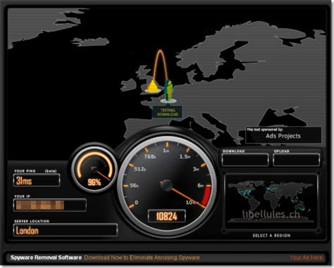 test banda adsl speedtest net un test de bande passante au look ravageur