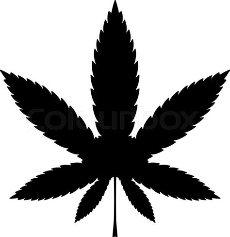 cannabis or marijuana leaf black vector icon illustration