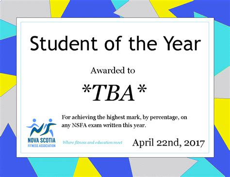 student of the year award template www imgkid com the