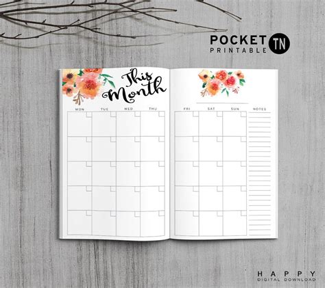printable pocket to do list printable travelers notebook to do list insert pocket tn