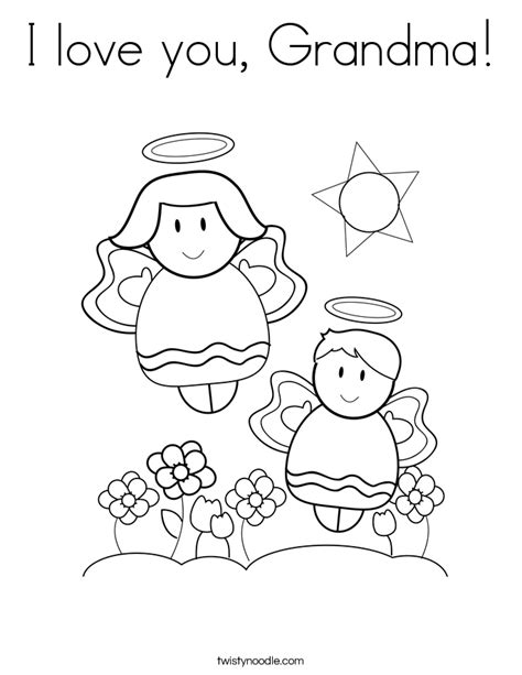 i love my grandma coloring pages coloring pages
