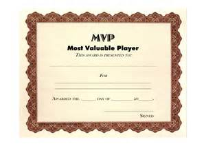 mvp certificate template mvp certificate template and most valuable player
