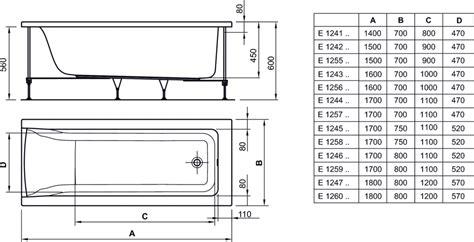 ideal standard vasca connect dettagli prodotto e1260 vasca rettangolare