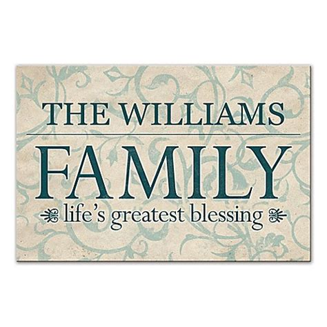 Buy quot life s greatest blessing quot family sign canvas wall art from bed bath amp beyond