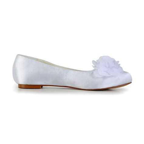 white satin flat shoes s satin flat heel closed toe flats white wedding