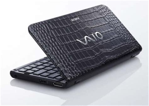 sony vaio p with crocodile skin design hits japan liliputing
