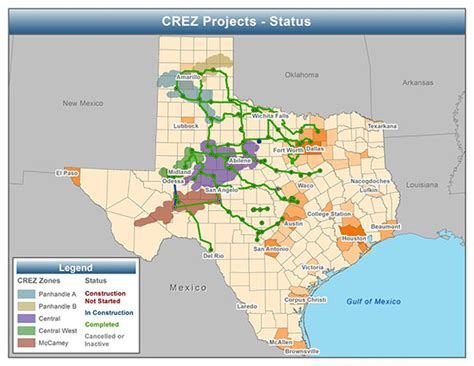 texas electric grid map fewer wind curtailments and negative power prices seen in texas after major grid expansion