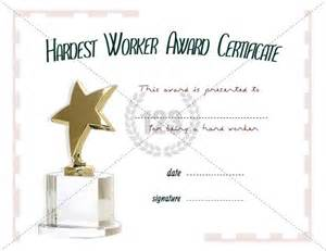 top performer award templates hardest worker award template free and premium