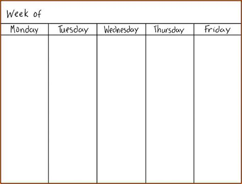 Calendar 6 Weeks 6 Blank Week Calendar Wedding Spreadsheet