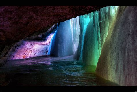 frozen waterfalls rainbow frozen waterfall wallpapers and images