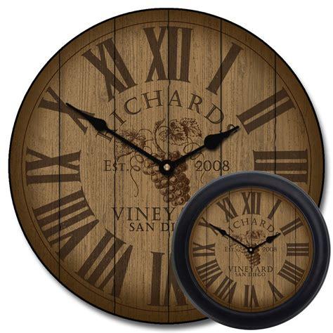 Brown Bathroom Colors Wine Wall Clock Barrel Wall Clock The Big Clock Store