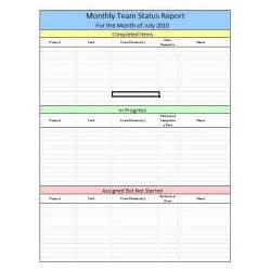 team progress report template monthly team status report template with table layout
