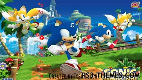 theme psp sonic ps3 themes 187 sonic generations theme