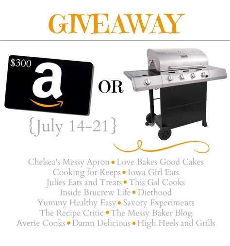 Bbq Giveaway - char broil classic gas grill or 300 amazon card giveaway