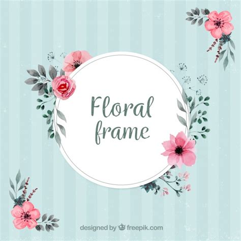 floral decoration vintage frame with floral decoration vector free