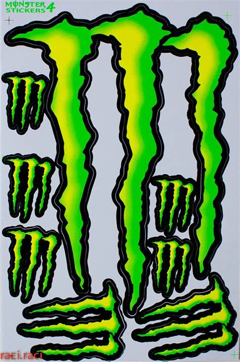 Monster Energy Sticker Rot by Red Monster Energy Decals Www Imgkid The Image Kid