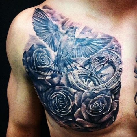 half chest tattoos for men designs gallery chest tattoos for pretty designs
