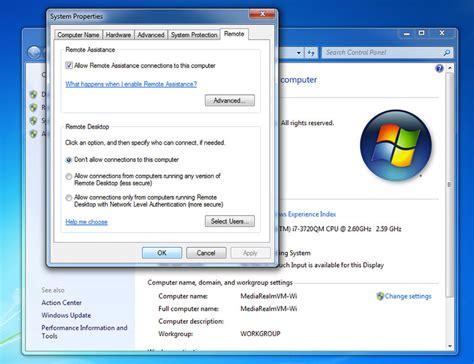3389 remote desktop rdp change vista