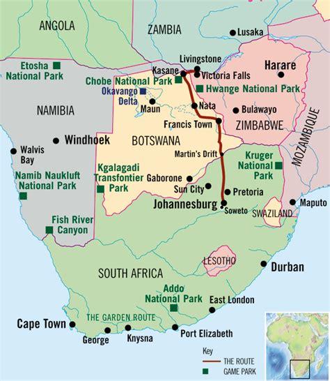 africa map falls falls to johannesburg safari falls to