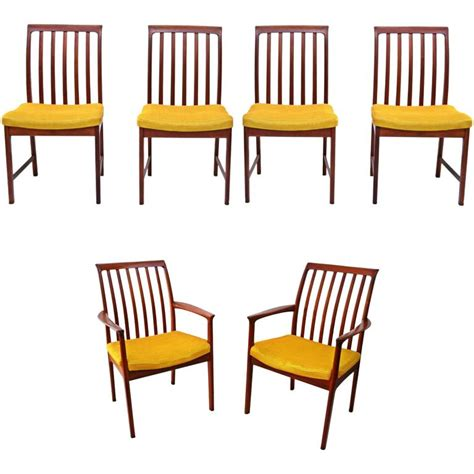 danish modern dining room chairs six danish modern folke ohlsson dux teak dining room