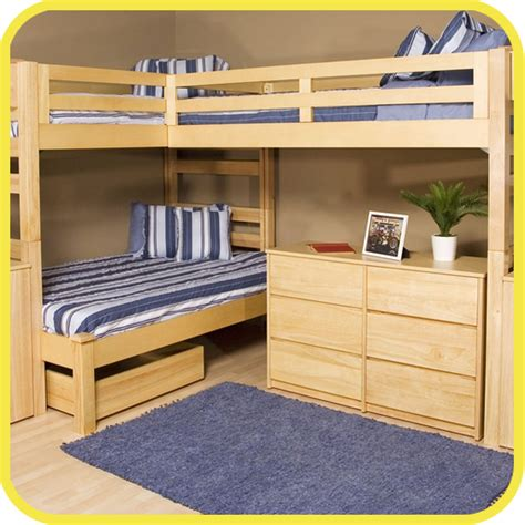 beds amazon triple decker bunk beds great for cottage infobarrel