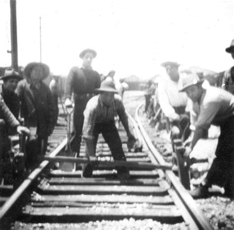 the development of the american rail and track as illustrated by the collection in the u s national museum classic reprint books bracero workers repair railroad track on the southern