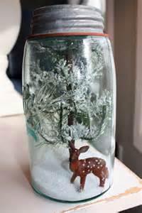 Christmas Gifts Mason Jar Snow Globes