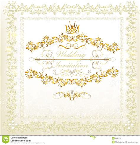 vintage style wedding cards invitation wedding card in vintage luxury style stock image image 27821541
