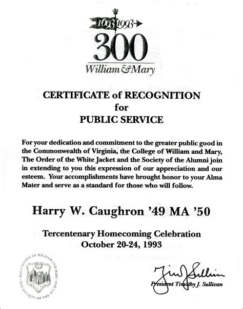 a certificate of appreciation in 1993 red caughron was awarded this certificate of
