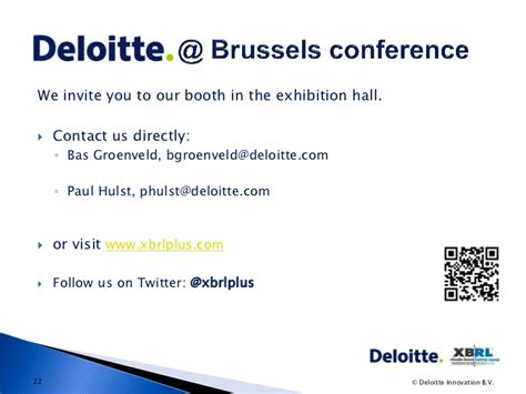 thanking letter visiting exhibition xbrl conference brussels bas groenveld and paul hulst