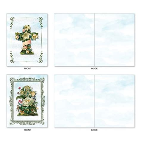 printable blank greeting cards with envelopes m6466ocbsl cross cards 10 assorted blank all occasion