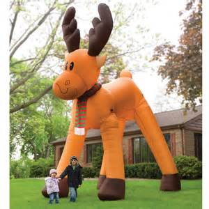 the two story inflatable reindeer hammacher schlemmer