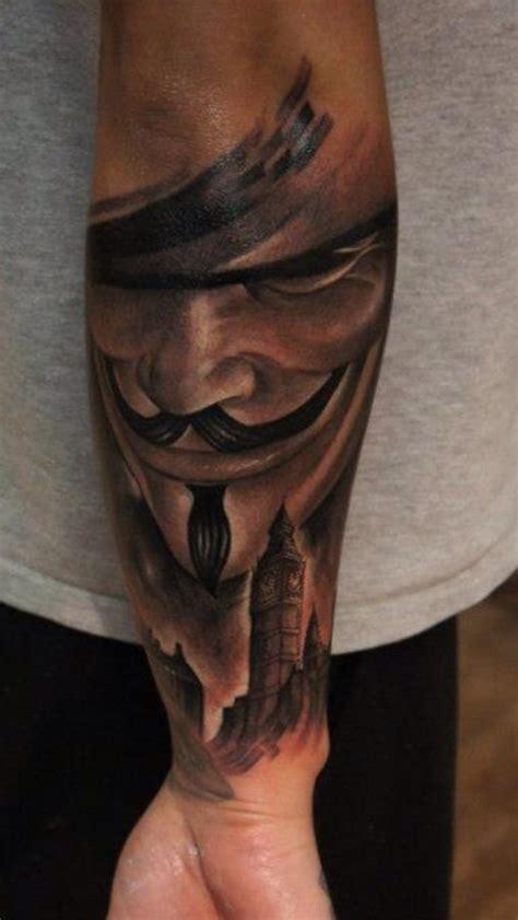 v for vendetta tattoo v for vendetta arm tattoomagz
