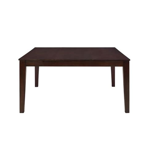 walker edison 60 quot square dining table in cappuccino