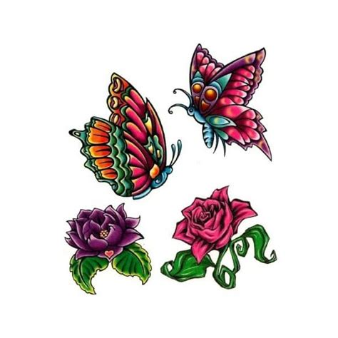 twisted tribal tattoos garden temporary pack