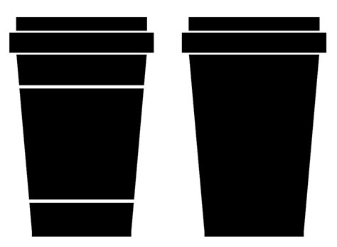 coffee cup silhouette png takeaway coffee cup clipart 17
