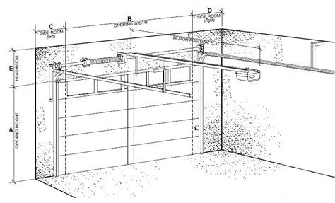 Overhead Door Dimensions Sectional Garage Door Clearances