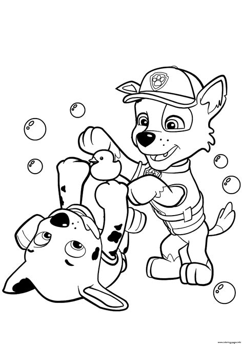 paw patrol blank coloring pages to print paw patrol rocky and marshall coloring pages printable
