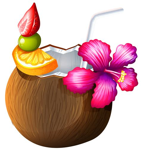 tropical beach coloring pages exotic coconut cocktail png clipart gallery yopriceville