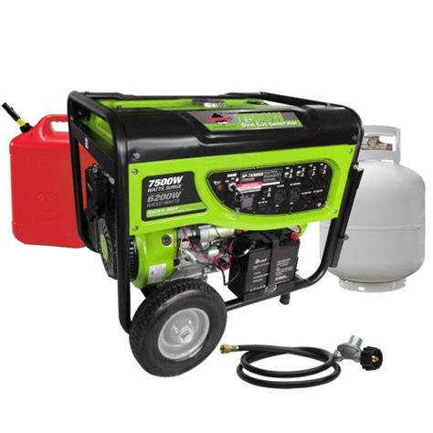 smarter tools st gp7500deb propane gasoline generator with