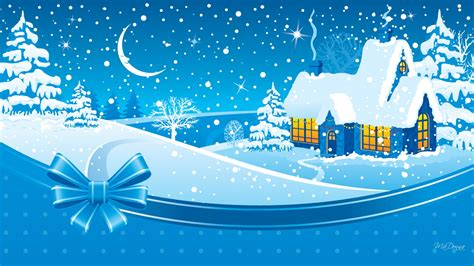 merry christmas winter snow cold holidays devoted  family relatives  friends wallpaper