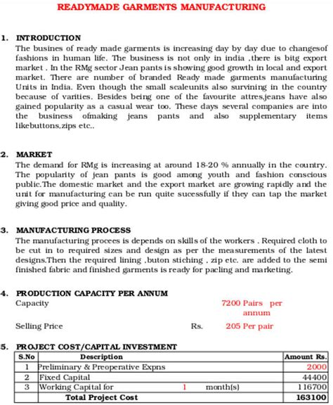 Manufacturing Business Plan Template manufacturing business plan templates 13 free word pdf