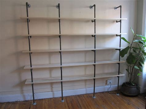 pipe shelving by shopdog lumberjocks woodworking