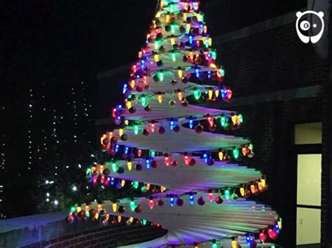 foto cara membuat pohon natal punya niat mulia pria ini hebohkan netizen dengan buat
