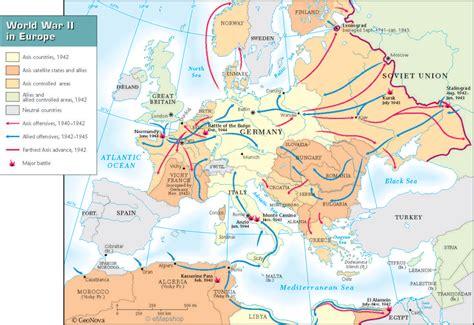 ww2 map warfare in europe world war ii