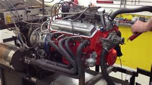 chevy 283 engine idling on the dyno
