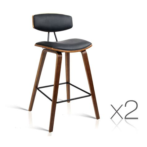 Black Wooden Stools Kitchen by Set Of 2 Wooden Kitchen Bar Stools Black Bar Stools