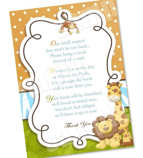 Baby Shower Invitations Books Instead Of Cards bring a book instead of a card by